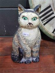 Sale 8925 - Lot 1057 - A cast iron cat form door stop