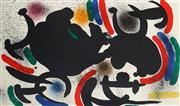 Sale 9055A - Lot 5022 - Joan Miro (1893 - 1983) - Lithographie I (Mourlot 863) , 1972 29.5 x 39.5 cm (frame: 44 x67 x 2 cm)
