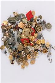 Sale 9007 - Lot 65 - A Collection Of Military Buttons Badges And Pins
