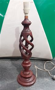 Sale 9034 - Lot 1089 - Ornately Turned Wooden Lamp Base