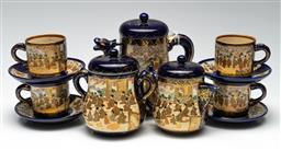 Sale 9211 - Lot 51 - A Part Royal Satsuma Tea Service for Four