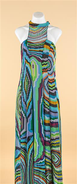 Sale 9250F - Lot 6 - A Scanlan & Theodore printed silk maxi dress, size 8.