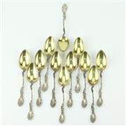 Sale 8332 - Lot 50 - German Silver 800 Standard Set of Twelve Teaspoons