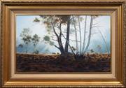 Sale 8415 - Lot 525 - Joseph Frost (1953 - ) - Morning Rays 55 x 90.5cm