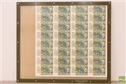 Sale 8481 - Lot 46 - Framed Sheet of Australian Fifty Dollar Notes (32)