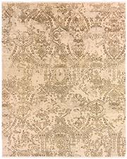 Sale 8536A - Lot 31 - An Ornate Handspun Wool & Natural Silk Carpet India 395cm x 239cm RRP $6,200.00