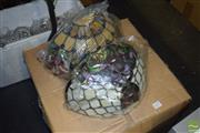 Sale 8509 - Lot 2297 - Box of Leadlight Lamp Shades