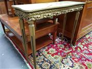 Sale 8570 - Lot 1025 - Gilt Based Console Table (79 x 92 x 30cm)