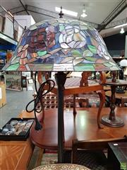 Sale 8580 - Lot 1071 - Leadlight Shade Standard Lamp