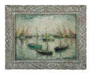 Sale 8620A - Lot 61 - Luke Namur Kaisin – Belgium 1901-1963 - Impressionist Seascape 30 x 40cm
