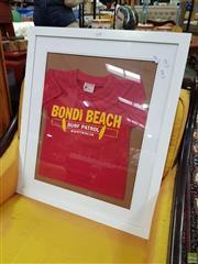 Sale 8629 - Lot 1098 - Framed Bondi Beach Childs Surf Patrol Shirt