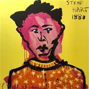 Sale 8657E - Lot 5020 - Adam Cullen (1965 - 2012) - Steve Hart 100 x 100cm (sheet: 110 x 112cm)