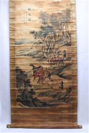 Sale 8706 - Lot 82 - Chinese Scrolls (2)