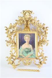 Sale 8827D - Lot 11 - An Elaborately Carved Gilt Picture Frame (A.F, 30cm X 22cm)