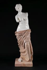 Sale 9010 - Lot 30 - Marble and Stone figure Of Venus de Milo H: 63cm