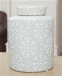 Sale 9090H - Lot 19 - A grey and white lidded ginger jar, Height 24cm