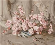 Sale 8459 - Lot 542 - Alan Baker (1914 - 1987) - Cherry Blossom 49 x 59cm