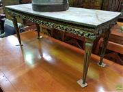 Sale 8570 - Lot 1016 - Gilt Based Coffee Table (49 x 100 x 45cm)