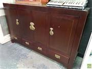Sale 8601 - Lot 1374 - Chinese Dark Stained 4 Door 4 Drawer Sideboard