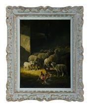 Sale 8620A - Lot 72 - Henry Schouten – Belgium 1864-1927 - Farmyard 55 x 40cm