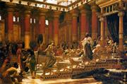 Sale 8652A - Lot 5061 - Sir Edward John Poynter (1836 - 1919) - The Visit Of The Queen Of Sheba, 1890 70 x 90cm