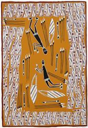 Sale 8696 - Lot 586 - Djardie Ashley (1950 - ) - Stone Spear Heads 62 x 43cm