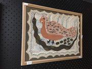 Sale 8771 - Lot 2050 - 2 Works: Artist Unknown - Still Life, Pastel Plus Artist Unknown - Dot Painting