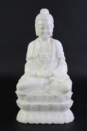Sale 8840 - Lot 9 - A Carved Marble Guanyin Figure (H 24cm)