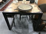 Sale 8868 - Lot 1603 - Square Distressed Black Dining Table