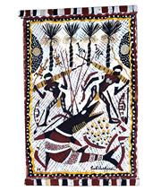 Sale 8958A - Lot 5040 - Dick (Goobalatheldin) Roughsey (1924 - 1985) - Yellow Nut (Wadid) 1969 56 x 36 cm (total: 56 x 36 x 3cm)
