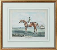Sale 9090H - Lot 2 - After John Ferneley, an engraving of Riddlesworth, chestnut colt. Frame size 73cm x 64cm