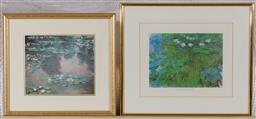 Sale 9155H - Lot 80 - Two Monet prints, larger frame size 35.5x41.5cm