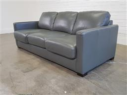 Sale 9191 - Lot 1048 - Leather 3 Seater Sofa Bed by Freedom, H 85 x W 202 x D 102 cm, Purchased June 2017. Good condition.