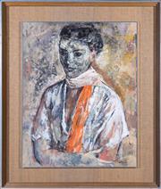Sale 8486A - Lot 14 - Judy Cassab - Lady with Scarf 60 x 48cm
