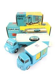 Sale 8559A - Lot 97 - Corgi Major no. 1129 Milk Truck & Karrier Bantam Dairy Produce Van, both in box