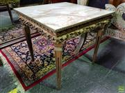 Sale 8570 - Lot 1019 - Gilt Based Lamp Table (49 x 51 x 51cm)
