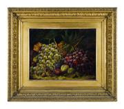 Sale 8620A - Lot 91 - William Barnett Spencer (1810-1884) England - Still Life Fruit 36 x 46cm