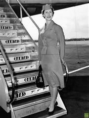 Sale 8721A - Lot 50 - Artist Unknown - Qantas Hostess Ms. Pat Willbrandt, 1960 25 x 20cm