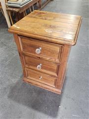 Sale 8959 - Lot 1066 - Single Pine Bedside Cabinet (H: 73, W: 50 x 50cm)