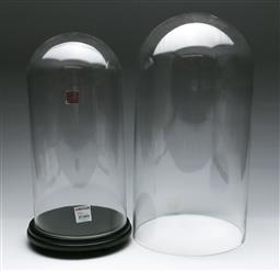 Sale 9156 - Lot 88 - A glass display dome on timber base (H 45cm) together with 2 other domes (H 50cm, no bases)