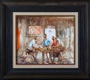 Sale 8313A - Lot 28 - Hugh Sawrey - A game of intent 25 x 30cm