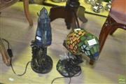 Sale 8331 - Lot 1052 - Bird & Seahorse Form Table Lamps