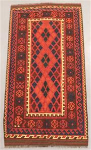 Sale 8438K - Lot 19 - Fine Khyber Afghan Kilim Rug | 193x100cm, Pure Wool, Finely handwoven in Northern Afghanistan using high quality local wool. Rich an...