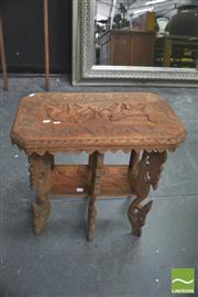 Sale 8406 - Lot 1027 - Heavily Carved Oriental Occasional table