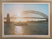 Sale 8415 - Lot 516 - David Perks (active 1980s) - Late Sun, Sydney Harbour, 1986 100 x 151cm