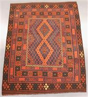 Sale 8438K - Lot 20 - Fine Kyber Afghan Kilim Rug | 252x196cm, Pure Wool, Finely handwoven in Northern Afghanistan using high quality local wool. Rich and...