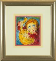 Sale 8449A - Lot 545 - David Boyd (1924 - 2011) - The Happy Musician 30 x 25cm