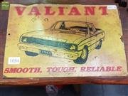Sale 8469 - Lot 1084 - A Valiant Ute metal sign