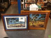 Sale 8600 - Lot 2079 - Pro Hart Signed Limited Edition Print & Another Pro Hart Print
