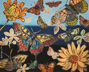 Sale 8666A - Lot 5082 - David Bromley (1960 - ) - Butterflies 35 x 26.5cm